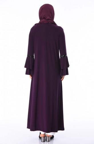 Dark Purple Abaya 5905-03