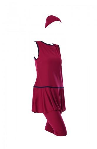 Fuchsia Hijab Badeanzug 1902-01