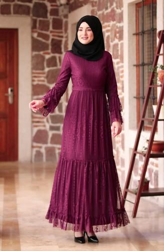 Robe Hijab Pourpre 3152-03