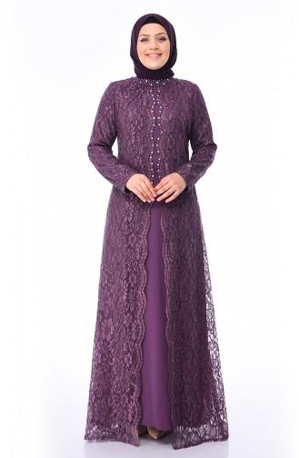 Habillé Hijab Pourpre 4215-01