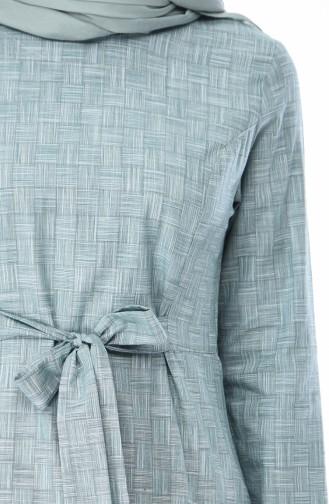 تونيك بتصميم حزام للخصر 1248-01 لون اخضر 1248-01
