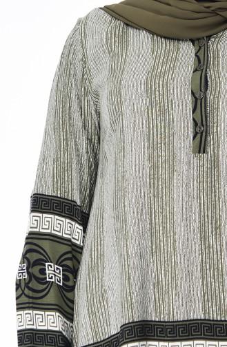 Khaki Blouse 7603-01