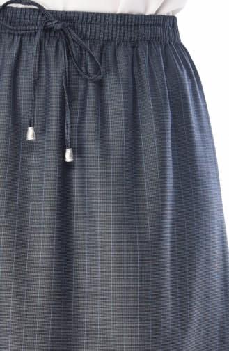 Jupe Taille élastique 1128A-01 Bleu 1128A-01