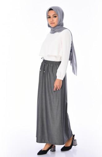 Gray Skirt 1128A-02