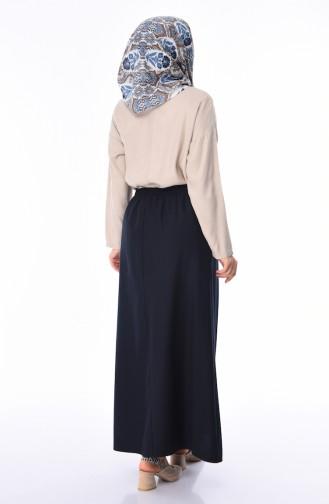 Navy Blue Skirt 1128B-01