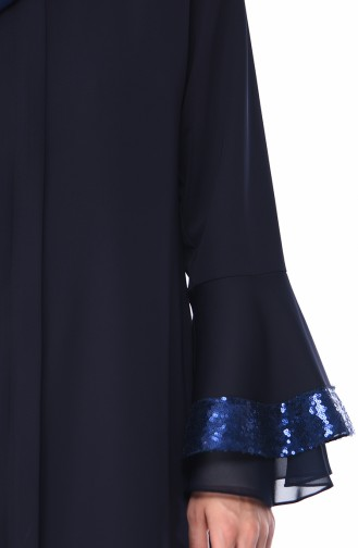 Dunkelblau Abayas 0012-02