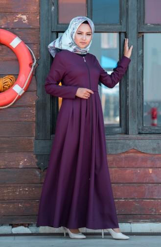 Abaya a Fermeture 2132-07 Bordeaux 2132-07