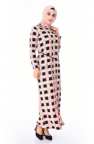 Perlen Abaya mit Kapuze 4225-02 Puder 4225-02