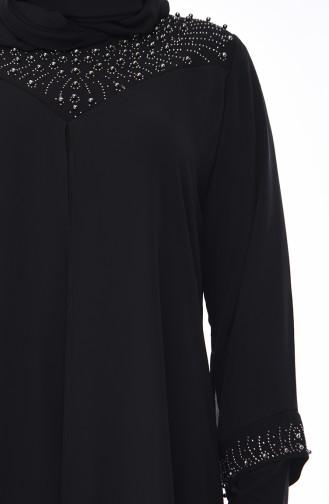 Black Islamic Clothing Evening Dress 1036-03