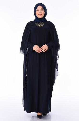 Habillé Hijab Bleu Marine 3002-01