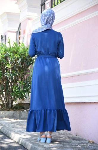 فستان نيلي 2242-03
