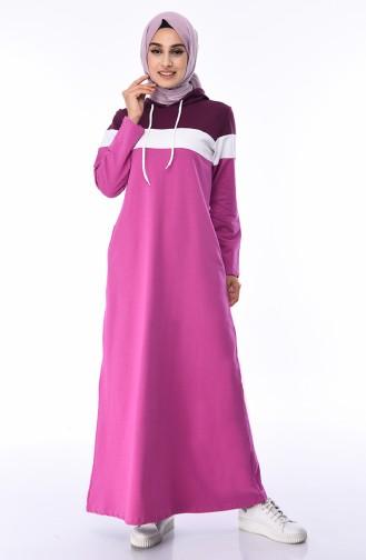 Robe Sport a Capuche 7011-01 Lila PLum 7011-01