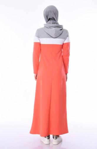 Grau Hijap Kleider 7011-03