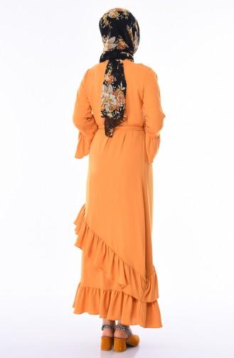 Mustard İslamitische Jurk 5020-01
