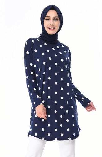 Navy Blue Tunic 1013-01