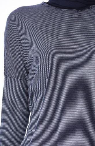 Yarasa Kol Mevsimlik Tunik 1018-01 Lacivert