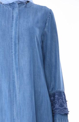 Jeansblau Abayas 0204-01