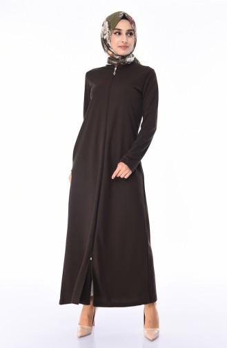 Dark Khaki Abaya 99140-15