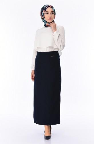 Navy Blue Skirt 4106-01