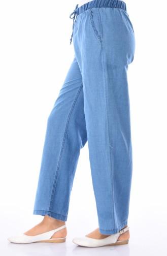 Pantalon Taille élastique 5002-01 Bleu Jean 5002-01