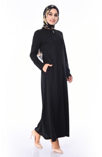 Zip-down Abaya 99140-03 Black 99140-03