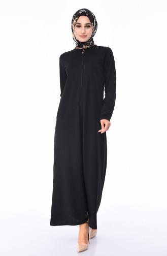 Abaya a Fermeture 99140-03 Noir 99140-03
