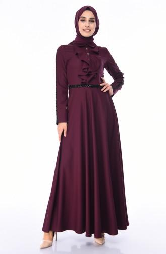 Pailletten Kleid 81660-06 Zwetschge 81660-06