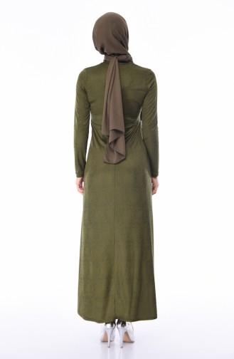 Khaki Hijab Dress 2064-01