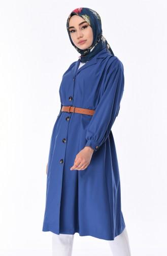 Indigo Trench Coats Models 5482-02