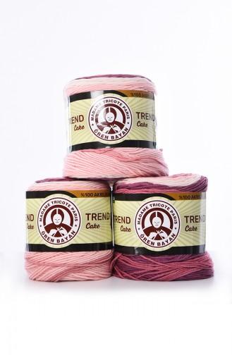 Ören Bayan Trend Cake Fil à tricoter 3025-626 Rose Pourpre 3025-626