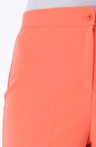 Pantalon a Boutons 1102-21 Orange Pâle 1102-21