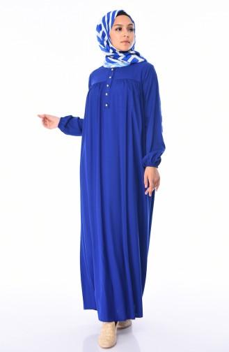 Saxe Hijab Dress 1195-10
