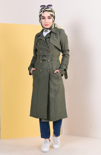 Khaki Trench Coats Models 6826-02