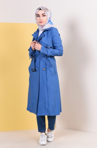Indigo Trench Coats Models 6826-03