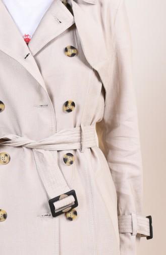 Beige Trench Coats Models 6826-04