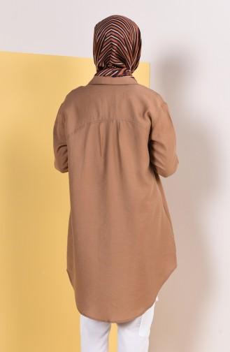 Tunique Asymétrique avec Poches 8Y6881700-02 Camel 8Y6881700-02
