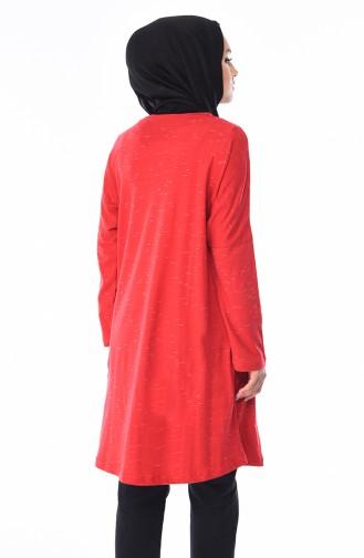 Yarasa Kol Mevsimlik Tunik 7840A-02 Kırmızı