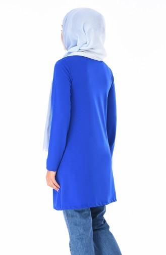 Tunique Imprimée 1447-04 Bleu Roi 1447-04