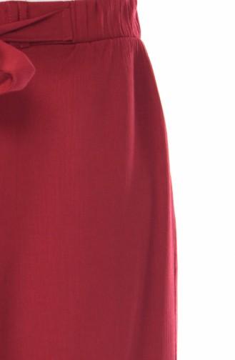 Pantalon Large élastique 0689-01 Bordeaux 0689-01