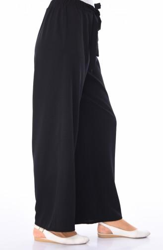 Pantalon Large élastique 0689-03 Noir 0689-03