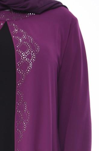 Light purple İslamitische Avondjurk 1046-05