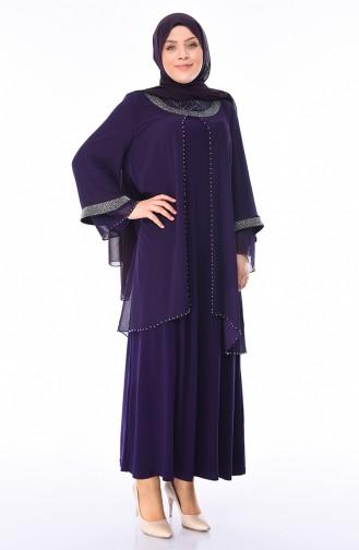 Purple Islamic Clothing Evening Dress 3144-03