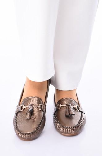 Copper Woman Flat Shoe 120-12