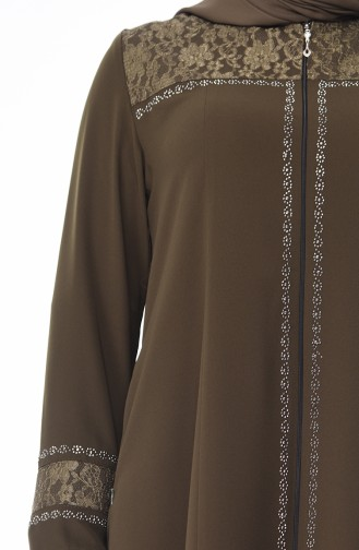 Khaki Abaya 5932-05