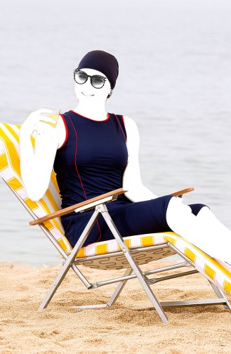 Navy Blue Swimsuit Hijab 1827-01