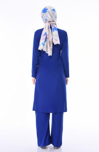 Tunik Pantolon İkili Takım 1197-07 Saks