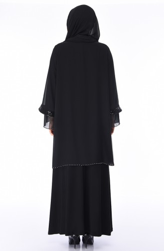 Black Islamic Clothing Evening Dress 3145-03