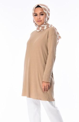 Tunique avec Poches 8116-10 Beige Foncé 8116-10