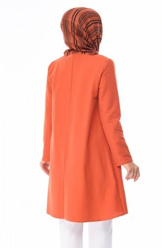Kravat Yaka Tunik 1055B-01 Kiremit