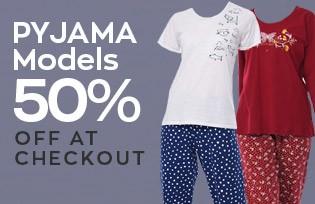 Pijama Modellerinde Sepette Net %50 İndirim